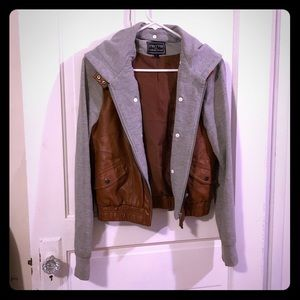 C'est Toi faux leather hooded jacket, GUC - READ⬇️
